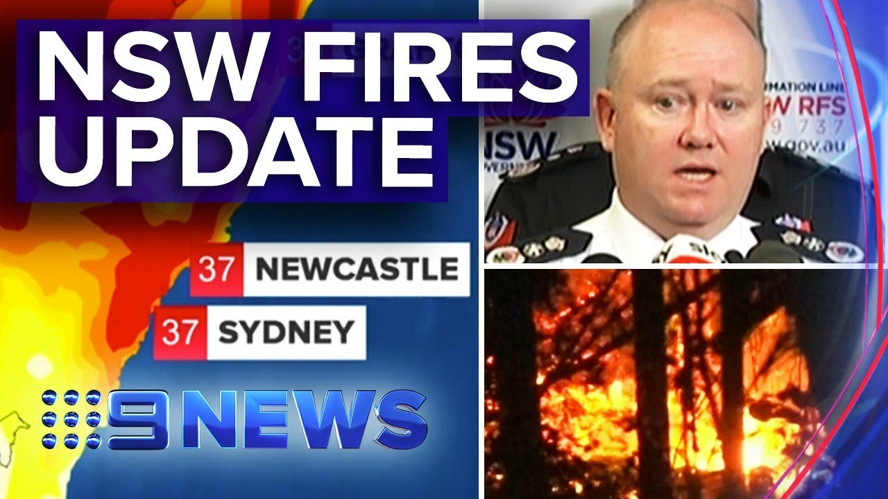 Latest NSW bushfire update from RFS, Premier | Nine News Australia