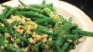 Awesome Crispy Green Beans W/  Garlic & Pine Nuts