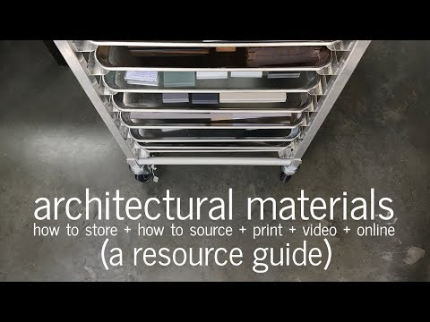 How I Store Architectural Materials