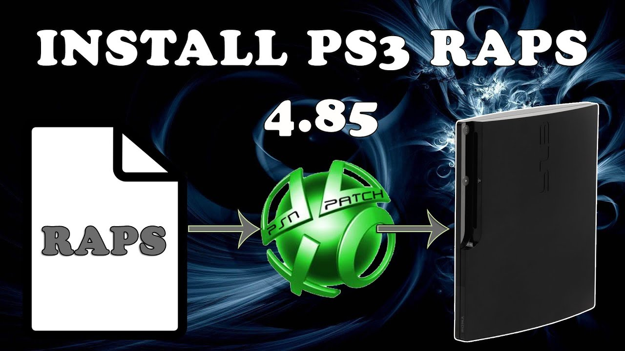 PS3 PSNpatch 4 85 - Download and install PS3 RAPs Files