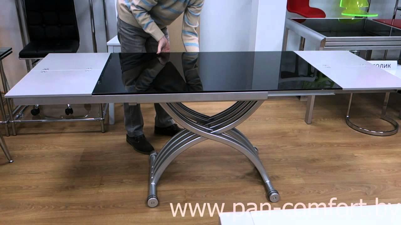 Стеклянные кухонные столы и стулья фото цены - YouTube