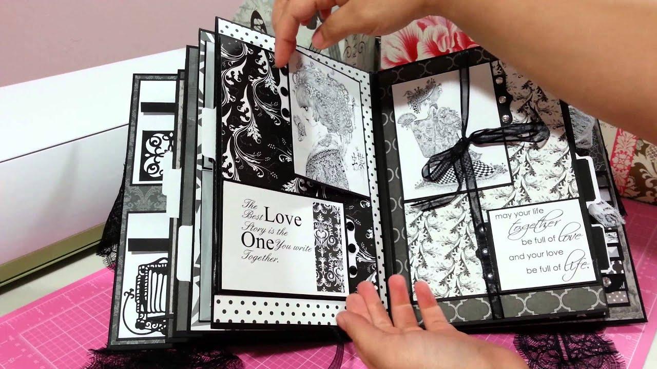 Handmade mini book album for wedding anniversary - YouTube