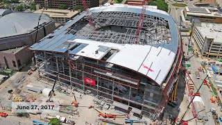Time lapse: Construction of the Milwaukee Bucks new arena