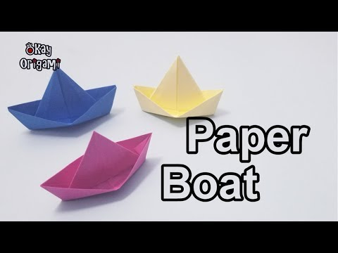 Okay! ll Origami Paper Boat tutorial, 折り紙, 紙の船, 종이배, barco de papel