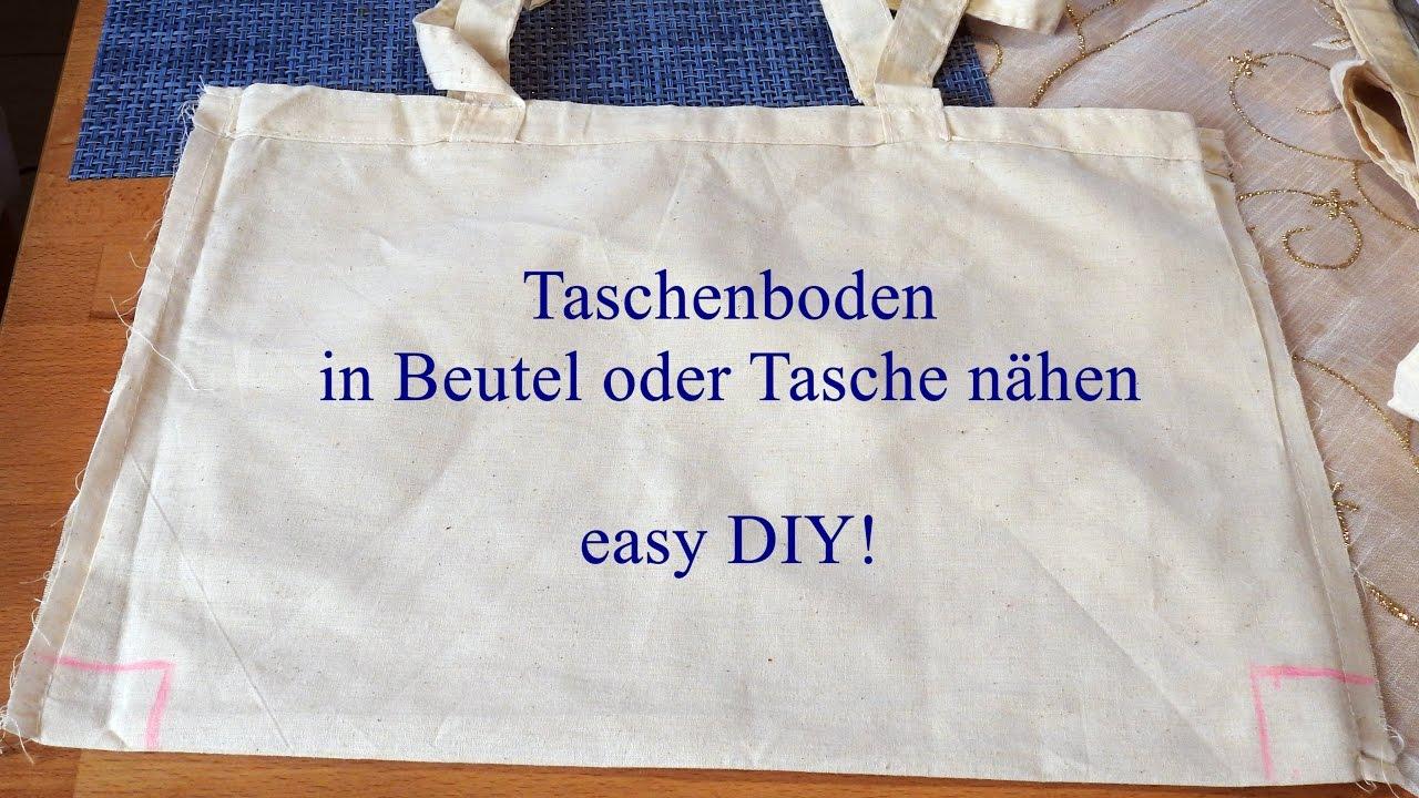 Easy Diy Taschenboden Nahen Zwei Wege Dorthin Youtube