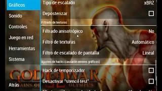 la mejor configuracion de god of war chains of olimpus para pc y android
