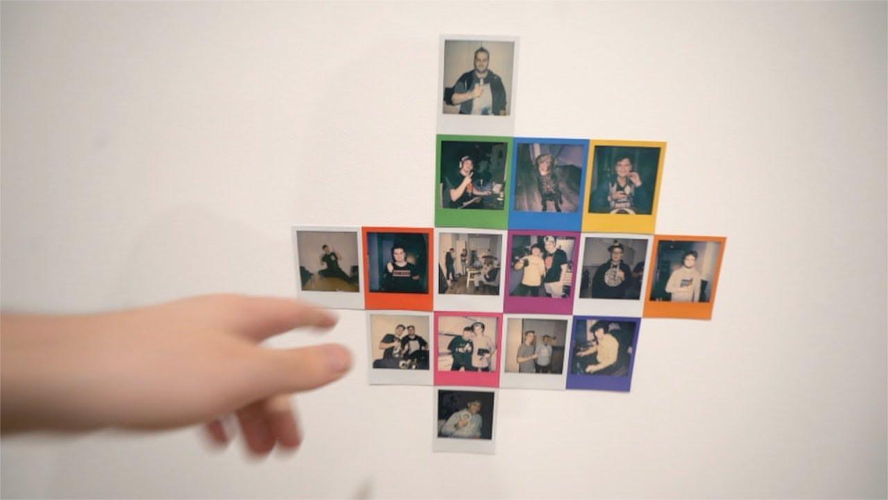 Unsere Polaroid Wand Youtube