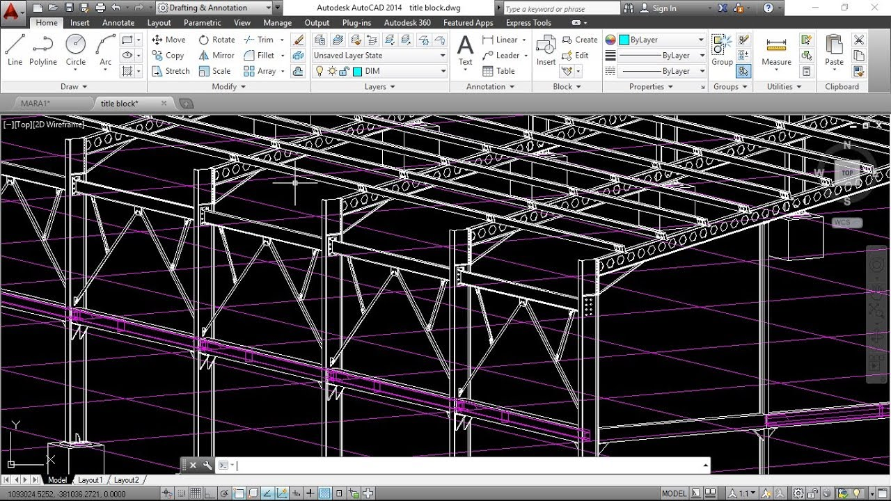 How to export drawings from Tekla structures to AutoCAD