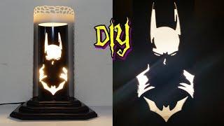 Aprenda fazer uma luminária de pvc Batman