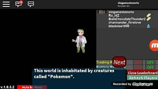 ROBLOX Pokémon Prejecton Read the description