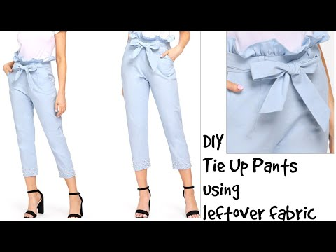 DIY : Convert Saree/Any Fabric Into Tie Waist Pants~