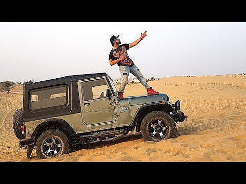 MODIFIED MAHINDRA THAR Offroading at the THAR DESERT | RAJASTHAN RoadTriPPin Part 4 | Vlog #17