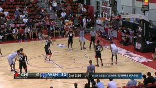 Lauri Markkanen NBA 2017 Summer League Game 3 vs Washington Wizards Highlights (20 pts 10 rebs)