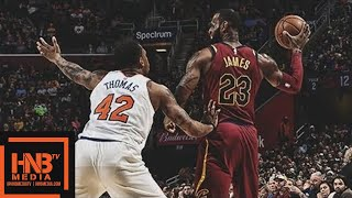 Cleveland Cavaliers vs New York Knicks 1st Half Highlights / April 11 / 2017-18 NBA Season