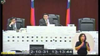 2012-10-31黑道議長恐嚇加威嚇32個議員各各乖的像...唉