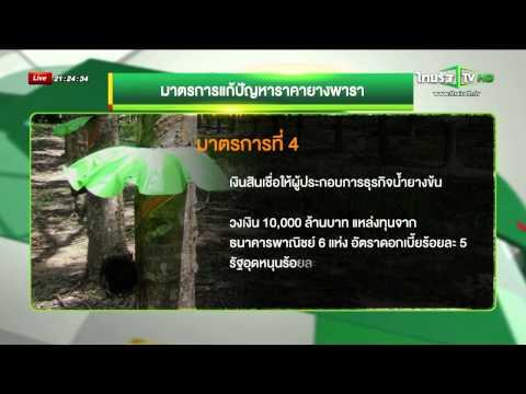 อนุมัติ 5 มาตรการดึงราคายางพารา (22/10/2557)