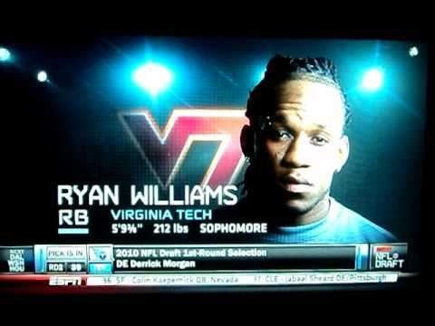 Virginia Tech's Ryan Williams Selected 38th Pick to Arizona Cardinals- 2011 NFL Draft