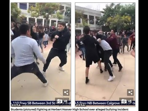 Race War erupts in California High School as Armenians & African Amercans brawl.