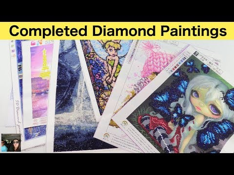 Diamond Painting Completed Finished & WIP Work In Progress Update | PaulAndShannonsLife
