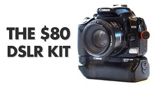 Video The $80 DSLR Kit (camera + lens) – Review download MP3, 3GP, MP4, WEBM, AVI, FLV Juli 2018
