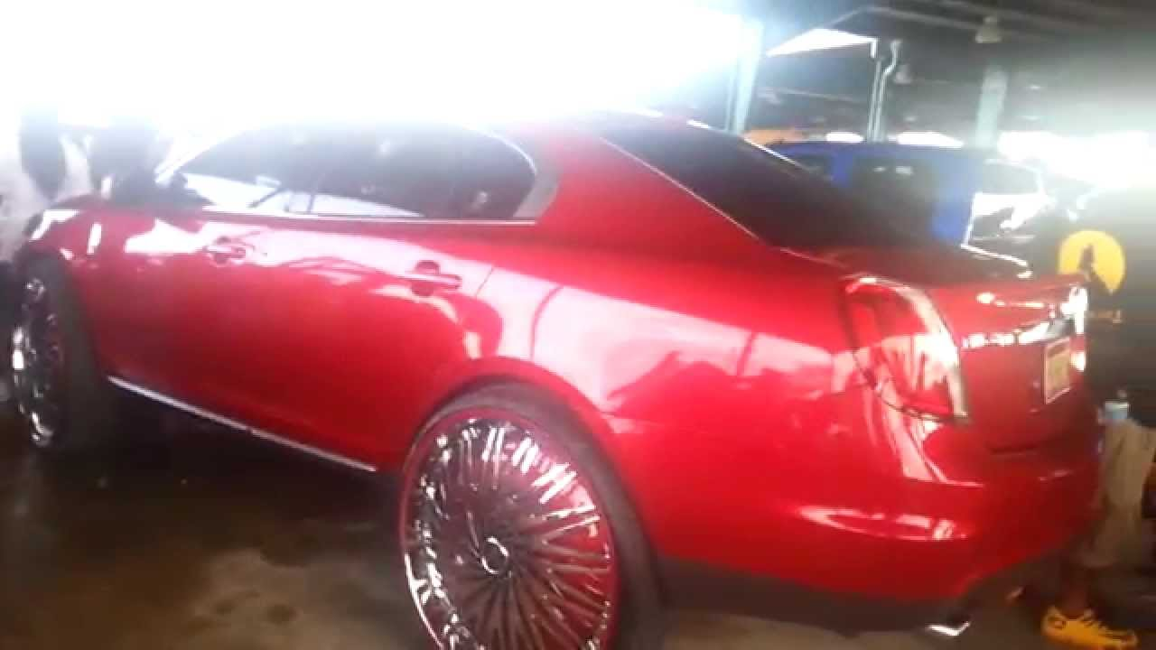 Riding Big Car Show 2014 Lincoln Mkz On Big 32 Inch Rims On Cars
