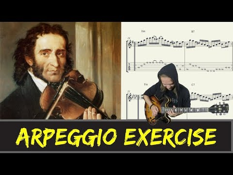 Warming up with || Niccolò Paganini (Arpeggio Exercise)