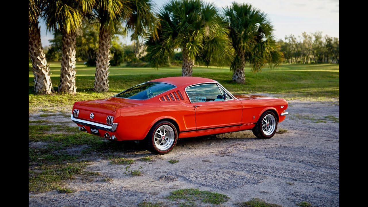 The 1965 model year was the first full year of mustang production. Revology Car Review 1965 Mustang Gt 2 2 Fastback In Poppy Red Youtube