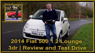 Review and Virtual Video Test Drive In Our 2014 Fiat 500 1 2 Lounge 3dr PN64JLO 2