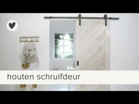 Super schuifdeur | vtwonen | DIY - YouTube #PE82