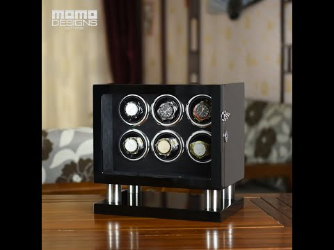 Watch Winder 6 Automatic Watch Box Electric Rotating Box Watches Organizer With LCD Touch And TPD