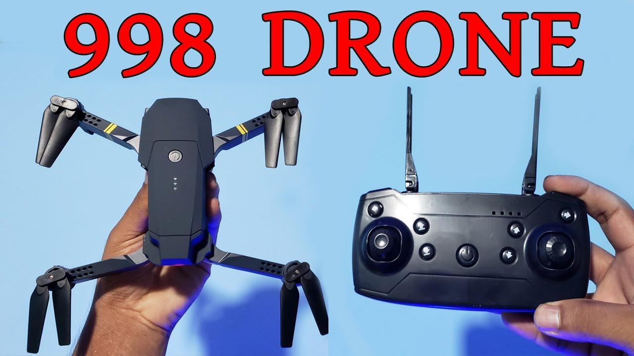 ৯৯৮ ড্রোন কিনুন পানির দামে,  998 Micro foldabul Drone Set Unboxing!! Water Prices
