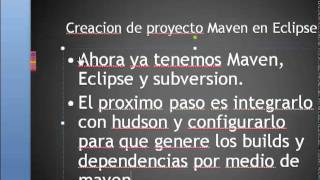 hudson con eclipse maven y subversion