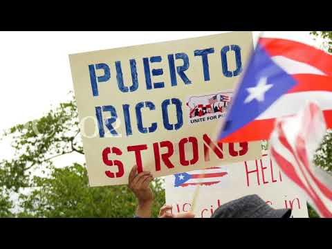 Rally at US Congress for Puerto Rican hurricane recovery