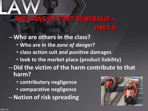 POL 203 Tort Law Lecture Presentation AUDIO SP15