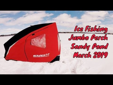 Ice Fishing For Perch || Sandy Pond