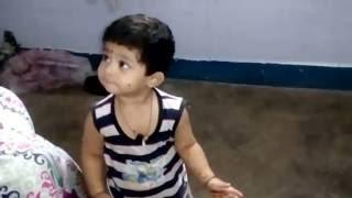 1yr cute baby talking telugu