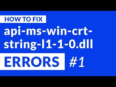 Api-ms-win-crt-string-l1-1-0.dll Missing Error   2020   Fix #1