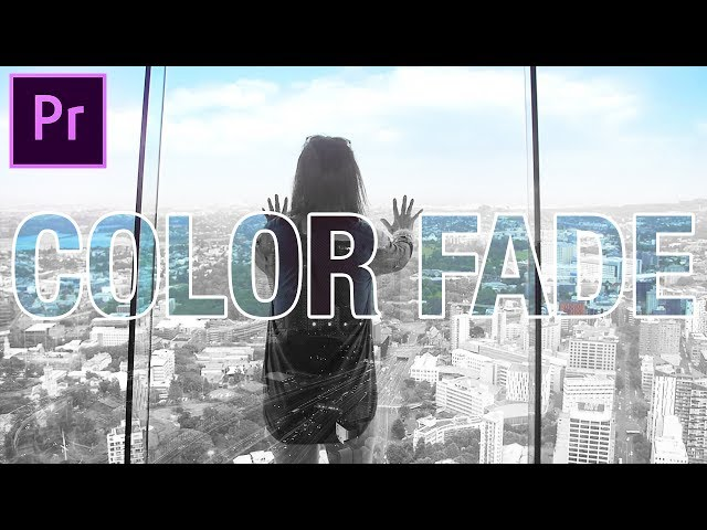 Adobe Premiere Pro: COLOR to Black & White Fade Effect (CC 2017 Tutorial)