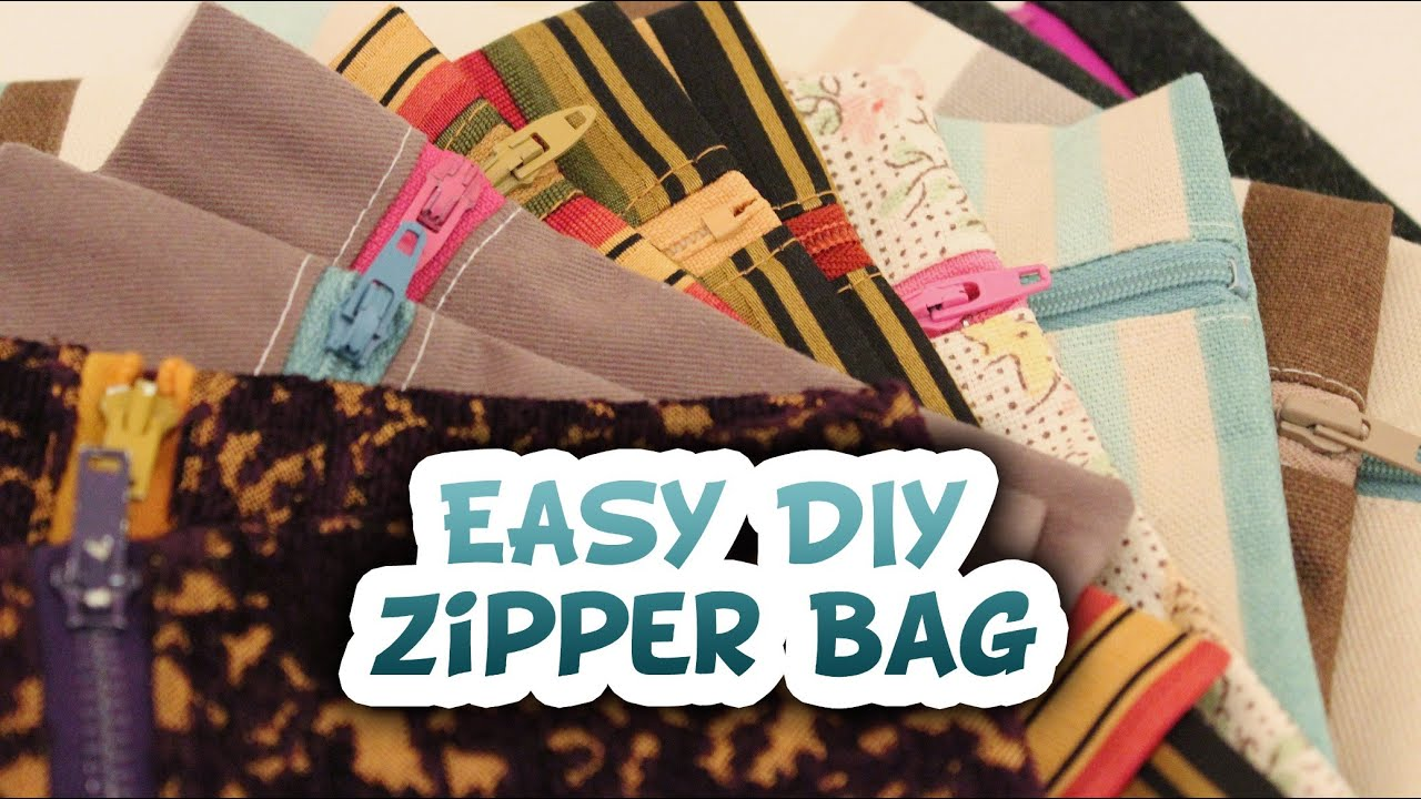 5 minute zipper bag easy diy whitney sews how to youtube solutioingenieria Image collections
