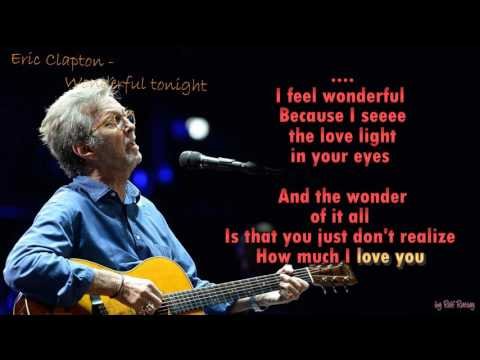 Eric Clapton  - Wonderful tonight - Instrumental
