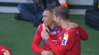 Jordan Larsson med en perfekt avvägd nick - TV4 Sport