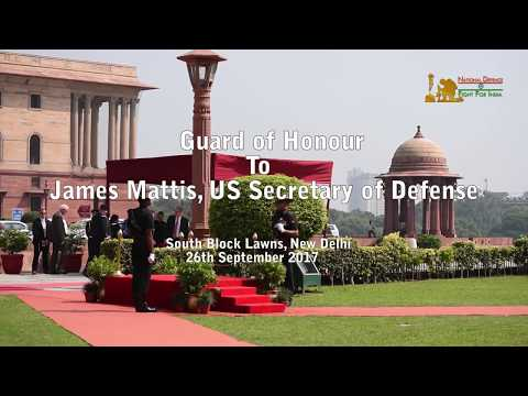 James Mattis, US Secretary Of Defence Given Guard Of Honour At South Block, New  Delhi, India