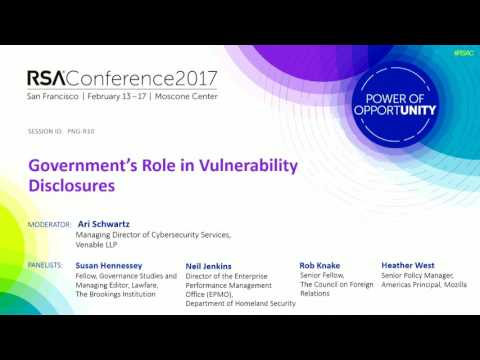 Government's Role in Vulnerability Disclosures