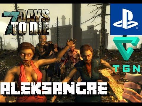 7 Days to Die PS4 - Gameplay en Español HD - Noche 35 - Horda mortal - ALEKSANGRE