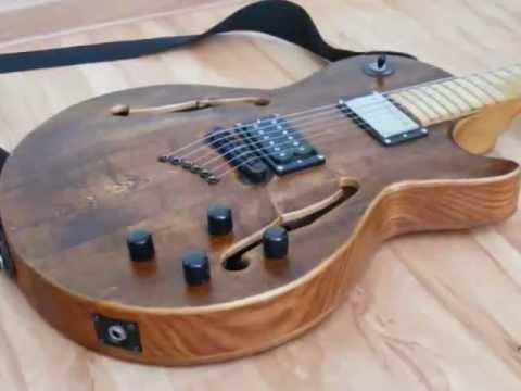 diy homemade semi hollow body guitar guitar case youtube. Black Bedroom Furniture Sets. Home Design Ideas