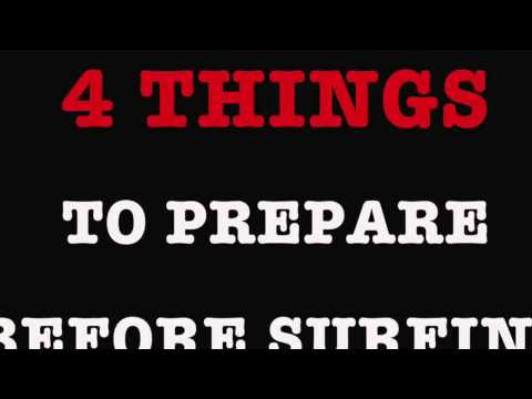 4 things to prepare before surfing