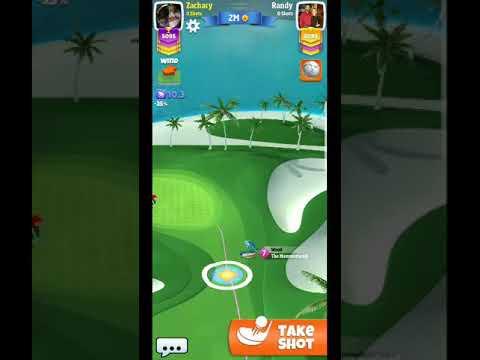 Golf Clash Tour 9 Oasis Par 3 Headwind Pointed Towards Hole