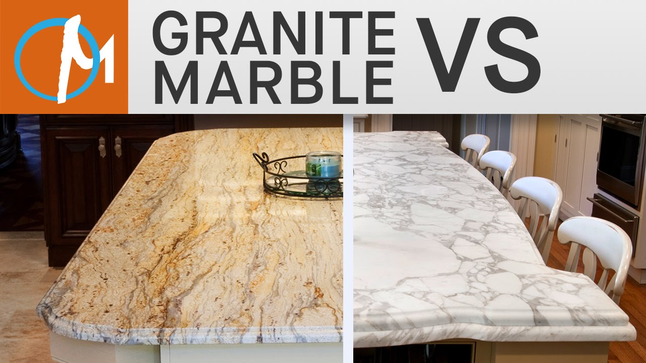 Difference Between Granite And Marble Countertops