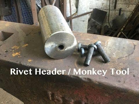 Rivet header / monkey tool