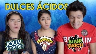 RETO: Dulces muy amargos!! | Warheads challenge, sour patch | Los Polinesios